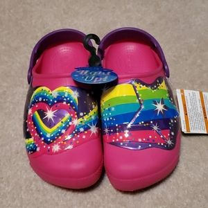 Girls Size 2 Light Up Crocs